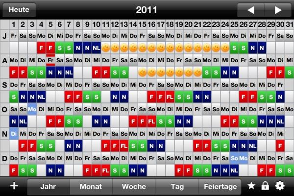 kalender app mit schichtplan ipod ipad iphone apple tv watch macintosh. Black Bedroom Furniture Sets. Home Design Ideas